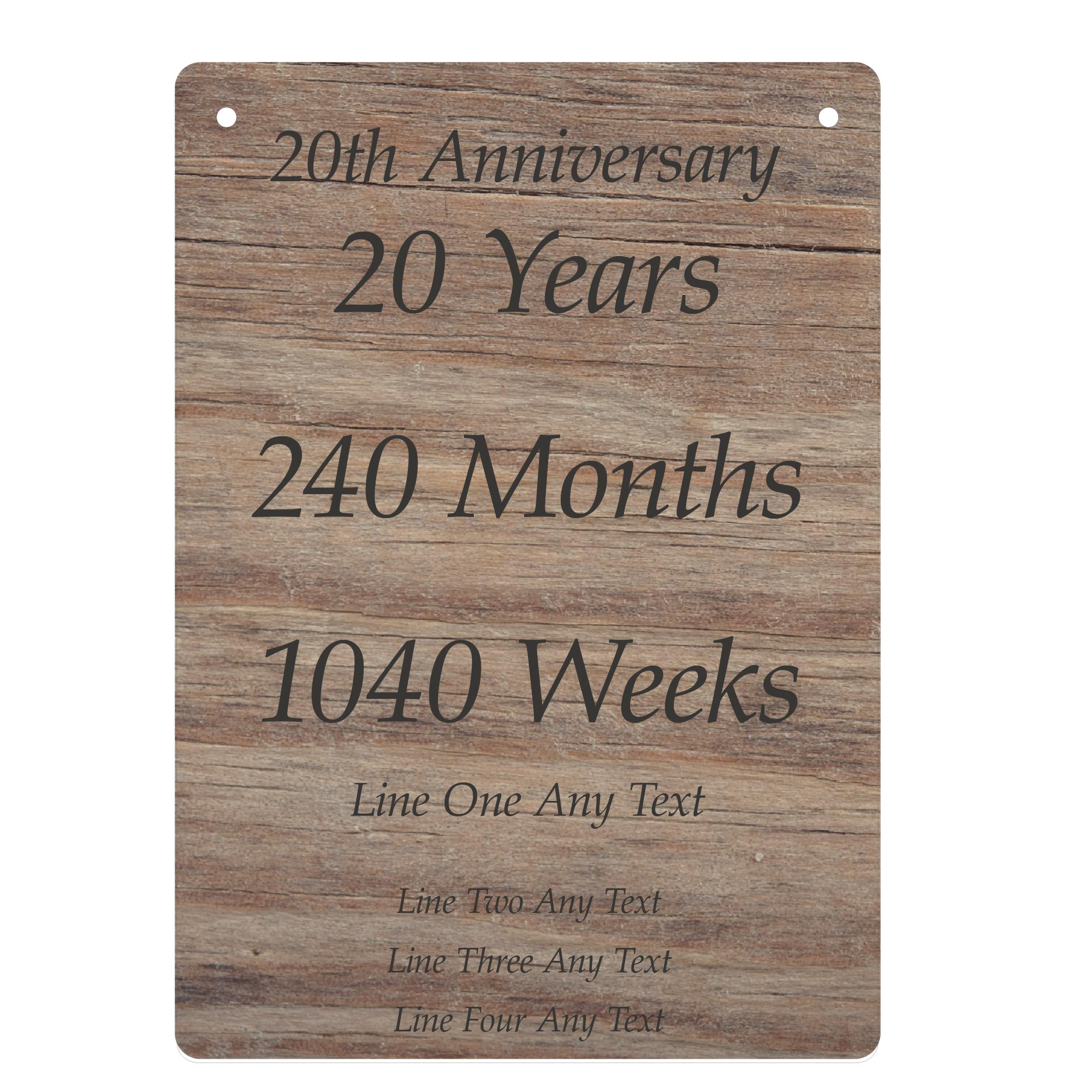 20th Anniversary Presents Personalised Gift Ideas For Couple Husband Wife Little Shop Of Wishes