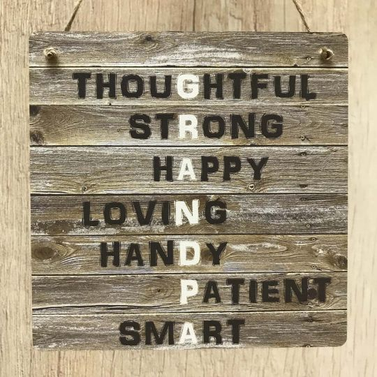 Grandpa Rustic Meaning Gift Wooden Plaque Vintage Sign For Birthday