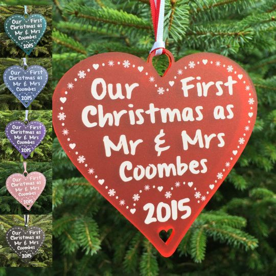 first christmas as married couple gift bauble decoration mr mrs mr mr