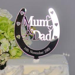 Personalised Mum Amp Dad Lucky Horseshoe Bridal 25th Wedding