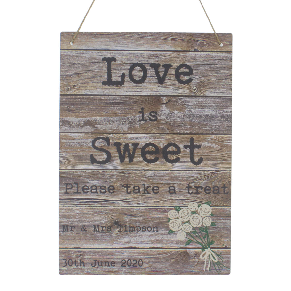 Personalised Wedding day signs reception party guest book welcome oh snap sweet