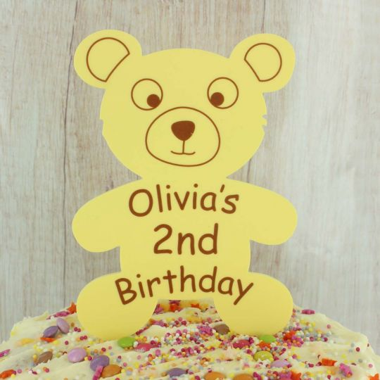 1st Birthday Teddy Bear Cake Topper Personalised ANY NAME AGE