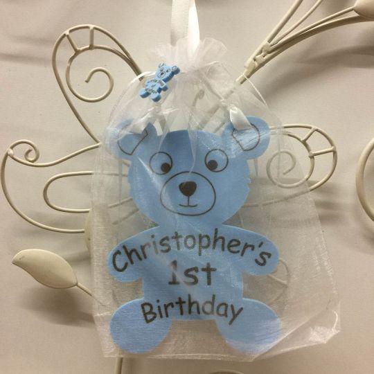 Personalised Birthday Teddy Bear Gift For Boy Or Girl Little Shop