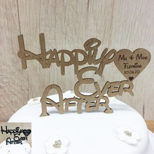 Happily Ever After Wedding Cake Topper Personalised Mr Mrs Or Any