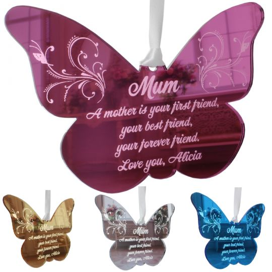 Mothers Day Gift Personalised Mother Daughter Butterfly Poem For Mum Mom Mam