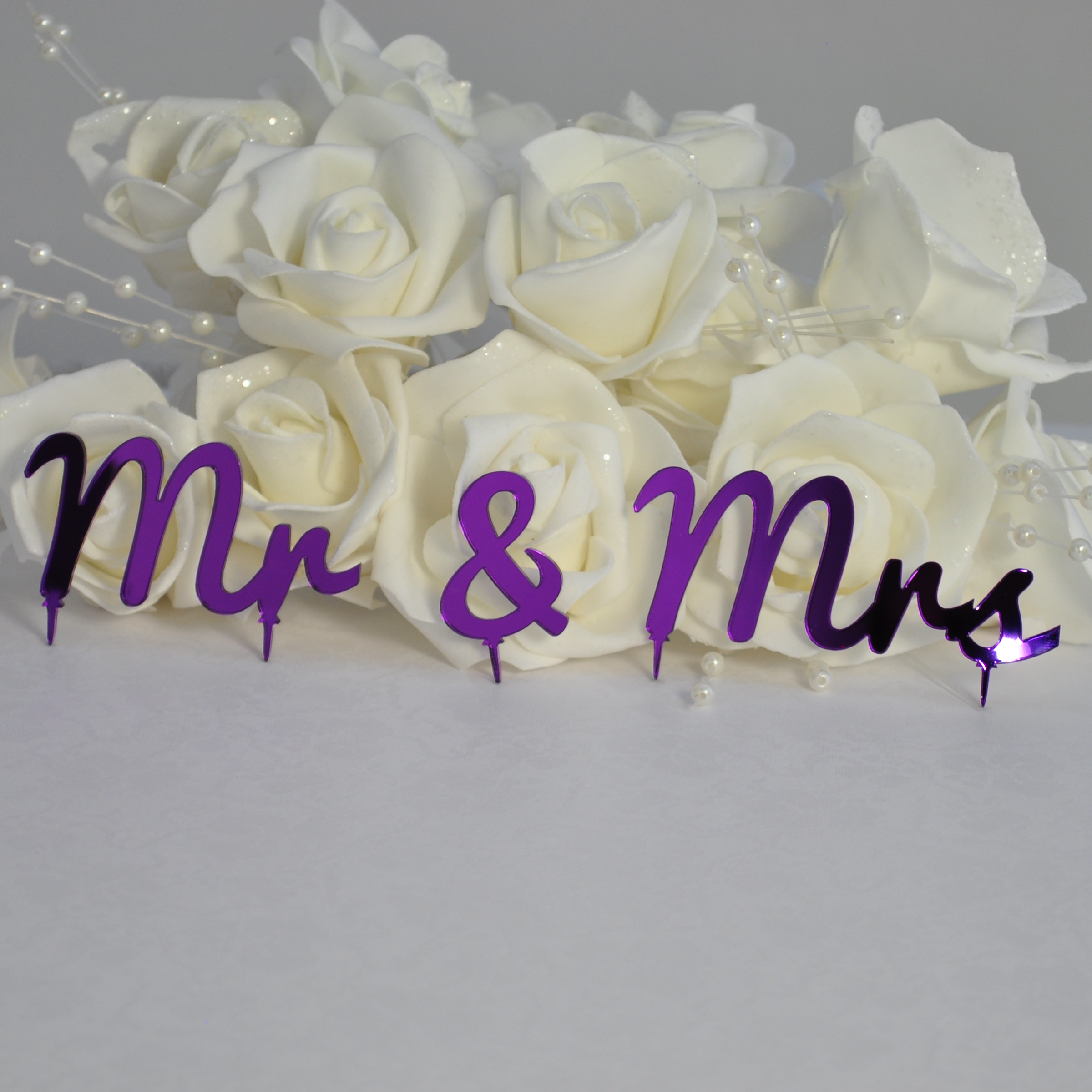 Mr Amp Mrs Wedding Or Anniversary Cake Topper 3 Piece Set