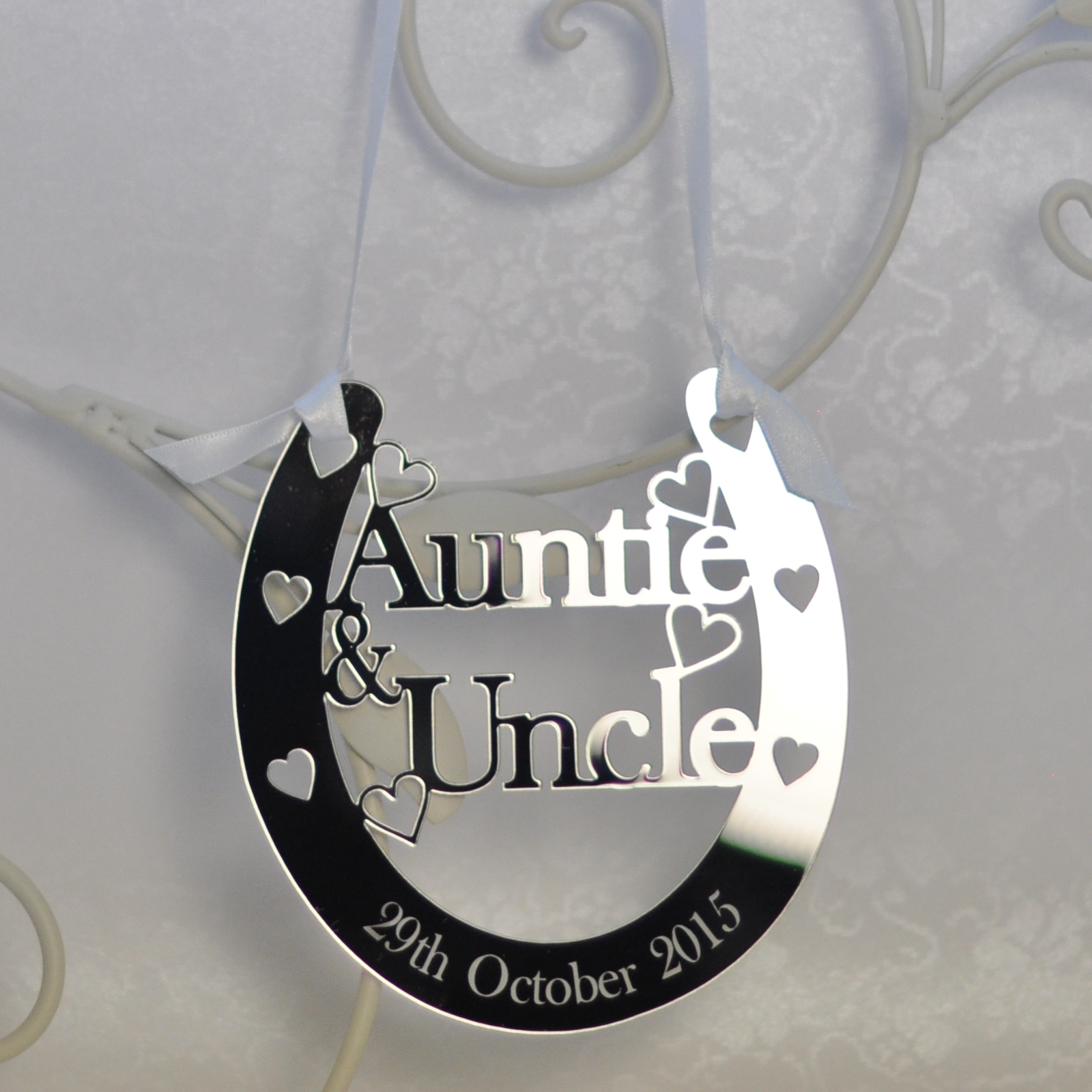 Wedding Gift For Uncle : Auntie & Uncle Good Luck Horseshoe Bridal Wedding Anniversary Gift ...