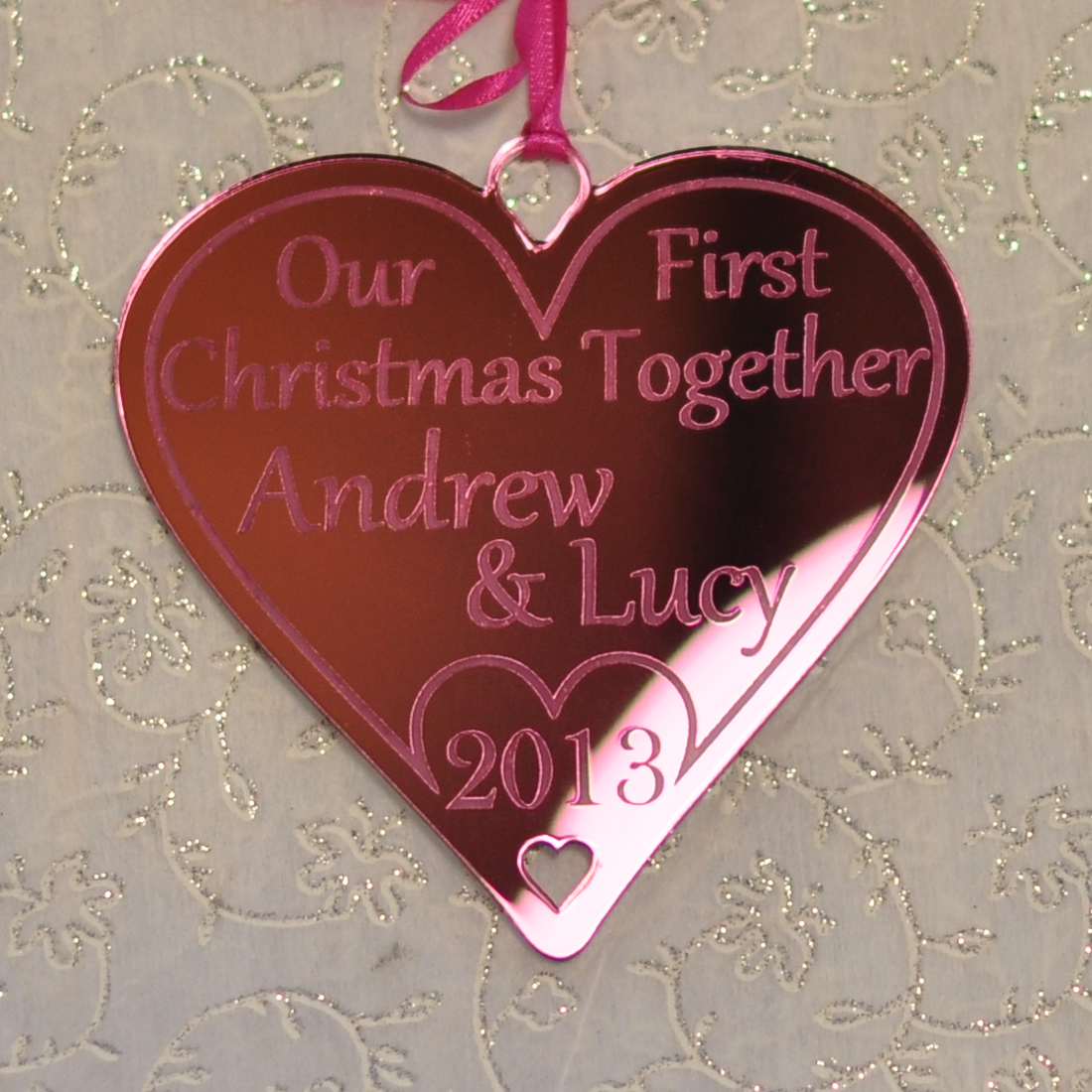 Our First Christmas Together Personalised Tree Decoration ...